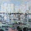 Nicht gegenständlich, Moderne malerei, Ozean, Abstrakte landschaft