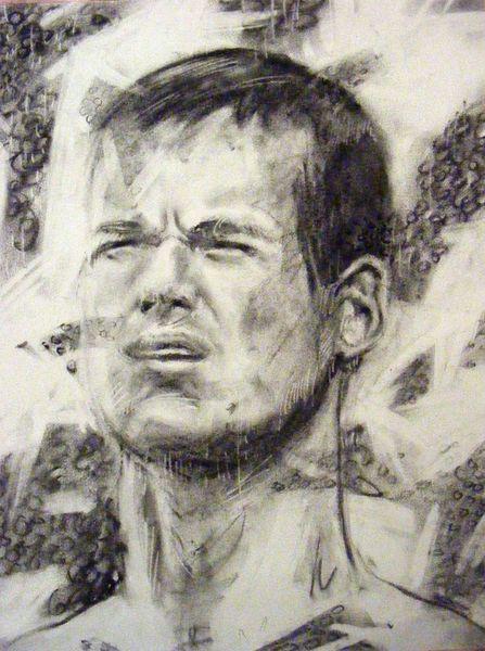 Emotion, Portrait, Menschen, Kohlezeichnung, Ausdruck, Zeichnung