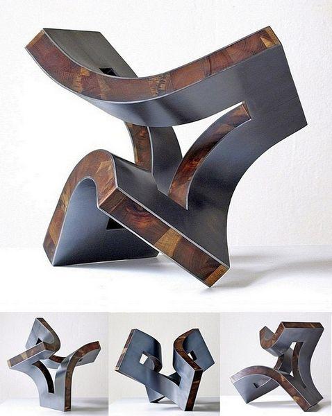 Beziehung, Holz, Stahlskulptur, Konstruktion, Skulptur, Schweben