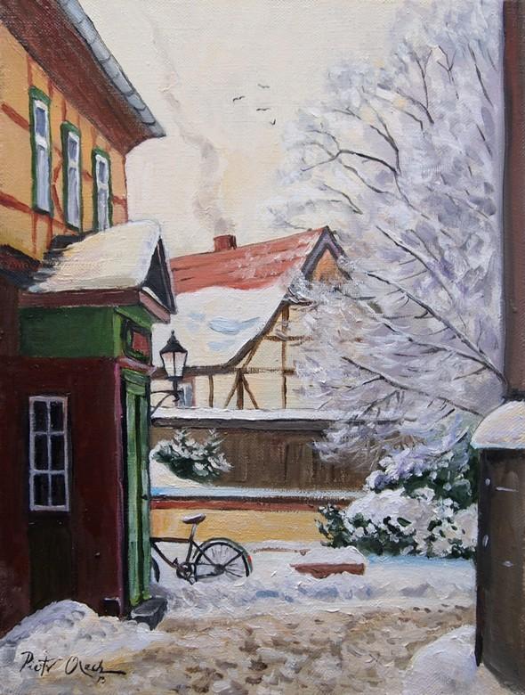 bild winter stadt wernigerode schnee von dunee bei kunstnet. Black Bedroom Furniture Sets. Home Design Ideas
