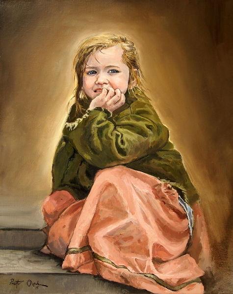 Katja mädchen, Malerei