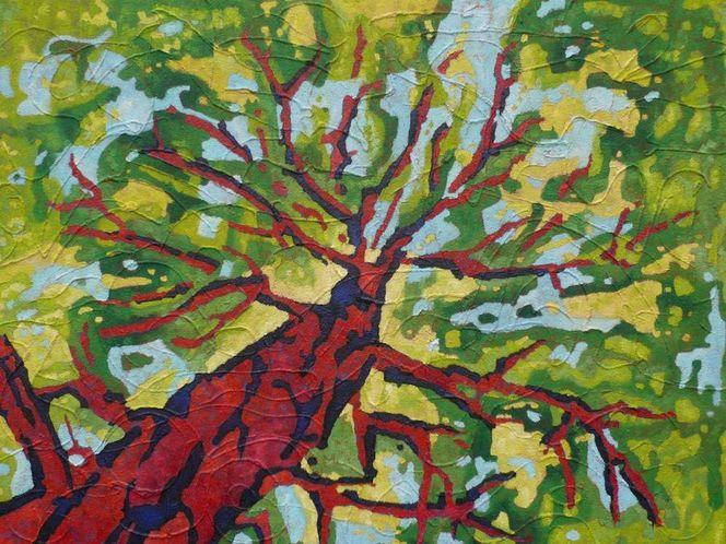 Panel, Tall, Ölmalerei, Abstrakt, Expressionismus, Malerei