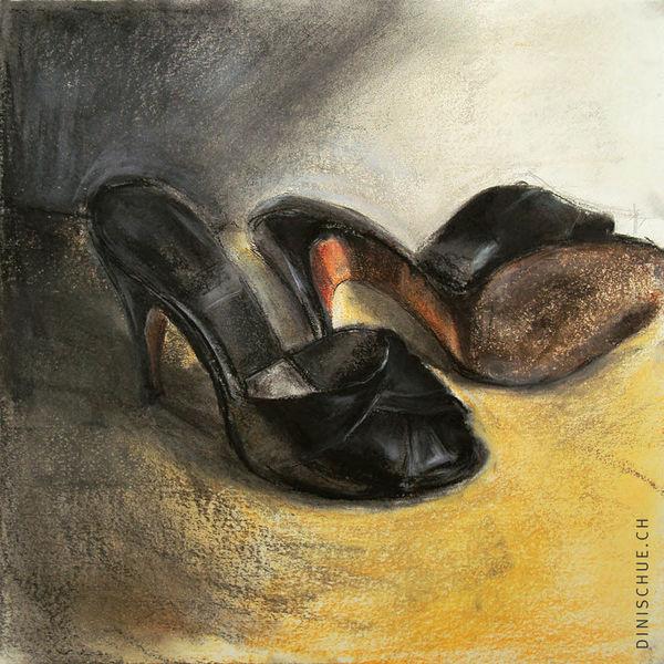 Vintage, Tanz, Frau, Schuhe, Weiß, 1950