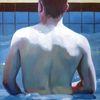 Muskulatur, Junge, Rücken, Malerei
