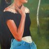 Teenager, Jung, Mädchen, Malerei