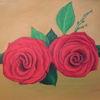 Ölmalerei, Rot, Rose, Malerei