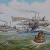 Schiff, Luftschiffe, Dampfschiff, Steampubk