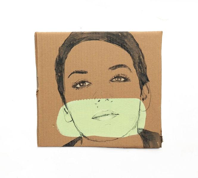 Frontal, Gesicht, Frau, Zeichnungen