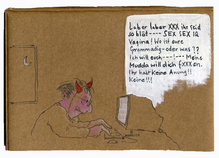 Troll, Soziales netzwerk, Allein, Abreibung, Nacht, Abend
