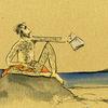 Ufer, Lesen, Otter, Zeichnungen