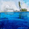 Wasser, Wolken, Horizont, Malerei