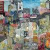 Plan, Häuser, Stadt, Malerei