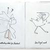 Schmetterling, Vogel, Freiheit, Zeichnungen