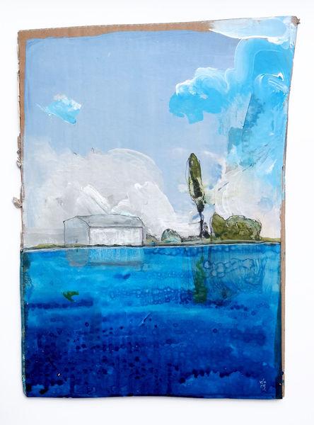 Wasser, Wolken, Horizont, Malerei, Freundlich