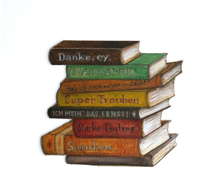 Erntedankfest, Herbst, Literatur, Zeichnungen, Stapel