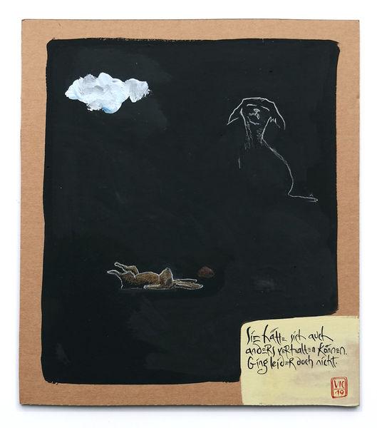 Hund, Wolken, Hase, Zeichnungen, Verhalten