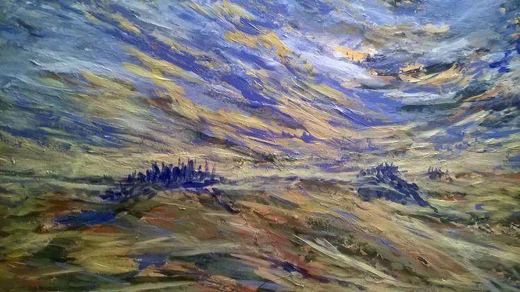 Farben, Dynamik, Sturm, Malerei