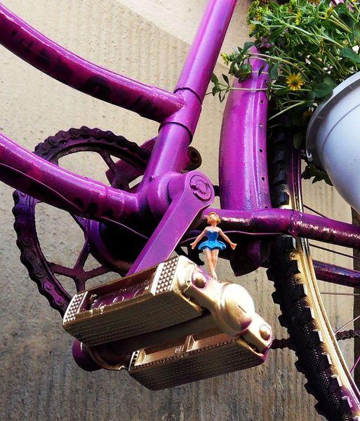 Fahrrad, Miniaturfiguren, Fotografie, Wirklichen, Leben