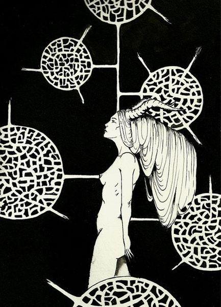 Akt, Zeichnung, Tuschmalerei, Schwarz, Frau, Zeichnungen