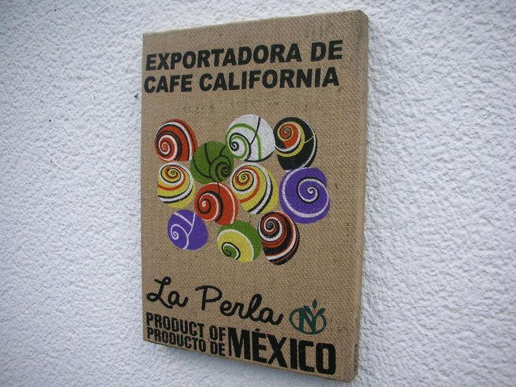 Holzbildhauerei, Mexiko, Kaffeesack, Kunsthandwerk