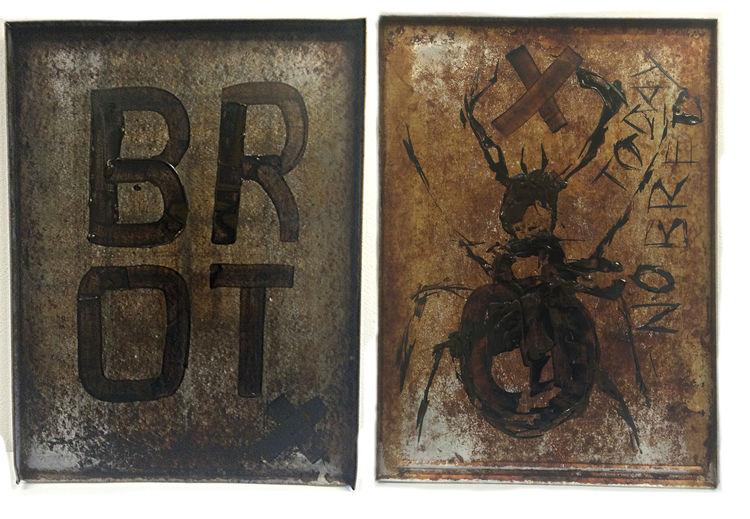 Brot, Käfer, Backbleche, Malerei