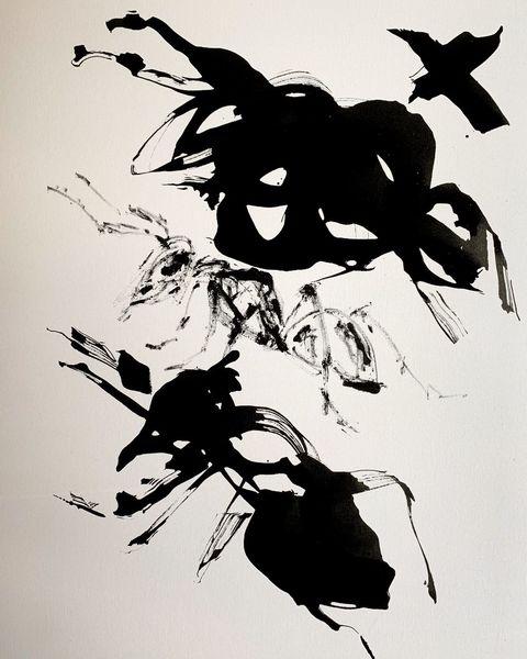 Schwarz, Malerei,