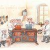 Fantasie, Küche, Illustration, Zwerg