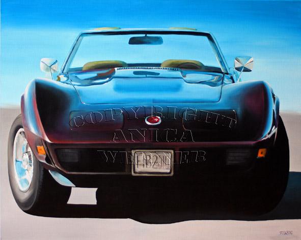 bild corvette acrylmalerei auto technik von farbe im blut bei kunstnet. Black Bedroom Furniture Sets. Home Design Ideas