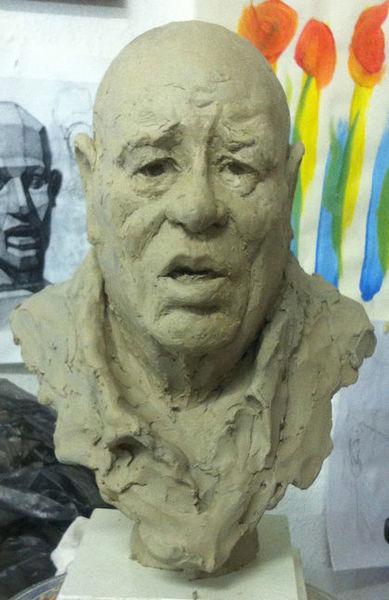 Ein porträt, Wahnsinn, Kopf, Mann, Menschen, Gestalt