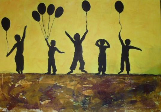 Malerei, Menschen, Kinder