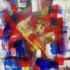Augen, Fensterblick, Farben, Malerei
