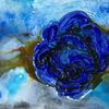 Abstrakt, Rose, Blau, Malerei