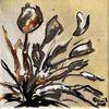 Tulpen, Sepia, Blumen, Malerei