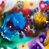 Lila, Blau, Explosion, Gelb