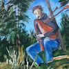 Meditation, Träumerei, Wald, Teich