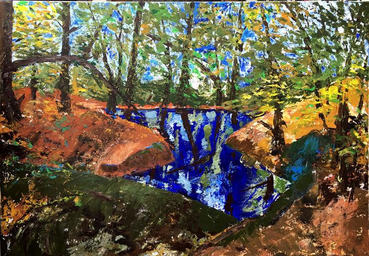 Baum, Landschaft, Luitpoldhain, Sommer, Teich, Wald