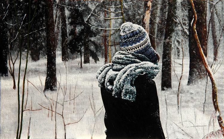 Landschaft, Wald, Malerei, Natur, Acrylmalerei, Frau