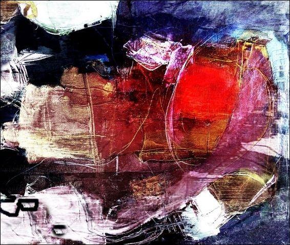 Abstrakt, Fantasie, Mixed media, Mischtechnik