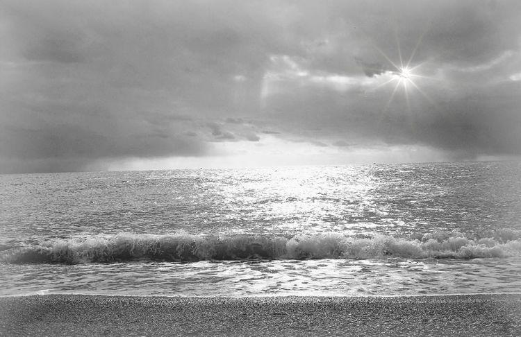 Welle, Wolken, Abendstimmung, Strand, Meer, Andalusien