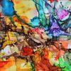 Formen, Flüssig, Tinte, Malerei
