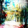 Lichtung, Wald, Baum, Malerei