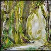 Baum, Natur, Wald, Malerei