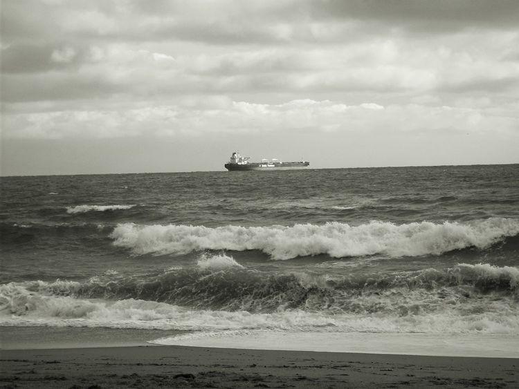 Schifffahrt, Welle, Schiff, Sturm, Meer, Hochnebel