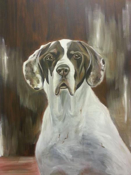 Tierporträt pointer, Malerei, Tiere