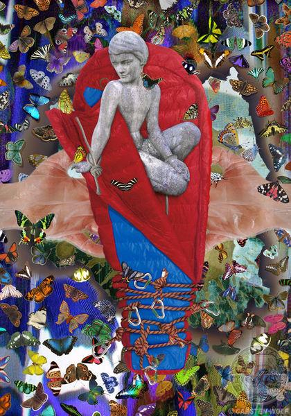 Digital, Collage, Wolfsbrut, Digitale kunst, Junge
