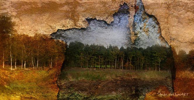 Landschaft, Struktur, Durchbrechen, Textur, Digitale kunst, Durchbruch