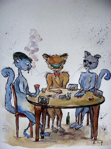 Karikatur, Tierkarikatur, Tierkarikaturen, Malerei