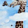Giraffe, Tierkarikatur, Coronavirus, Malerei