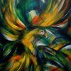 Papagei, Fliegender vogel, Malerei,
