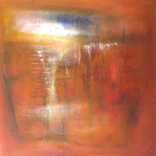 Abstrakt, Acrylmalerei, Landschaft, Malerei